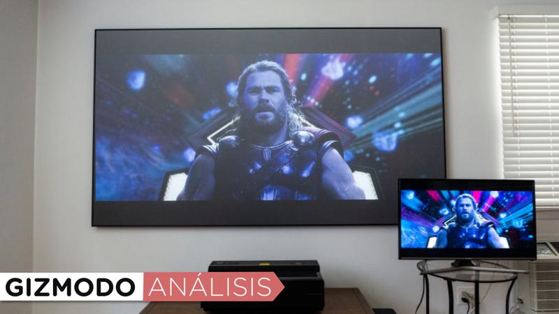 Illustration for article titled El nuevo televisor láser de 100 pulgadas de Hisense me ha convertido en un creyente en las pantallas enormes