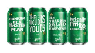 Illustration for article titled We Made More Rap-Themed Sprite Cans