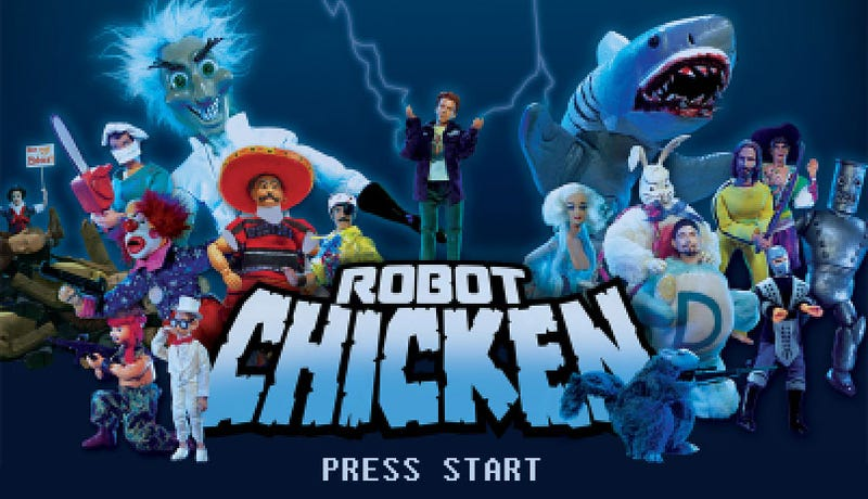Illustration for article titled When Robot Chicken Meets Video Games