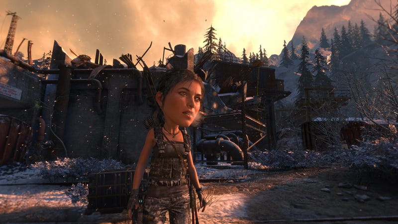 Illustration for article titled Rise Of The Tomb Raider'sBig Head Mode Is Pretty Good