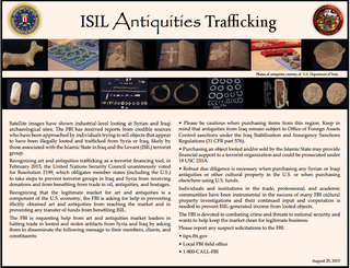 Illustration for article titled FBI: Don't Accidentally Buy Artifacts Stolen By ISIS