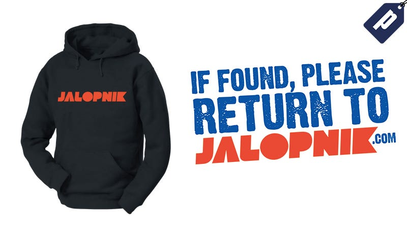 Illustration for article titled Save 10% At The Jalopnik Store: Get Your Tees, Hoodies, Stickers & More