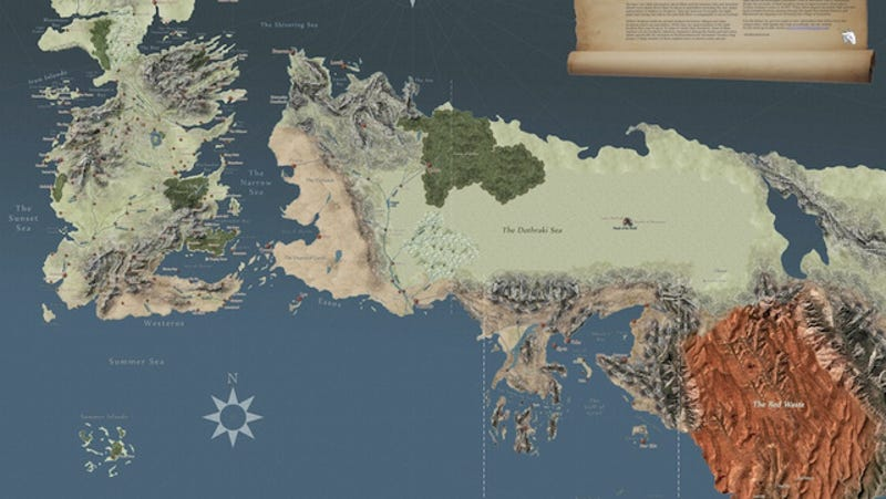 The most detailed map of the Game of Thrones world yet