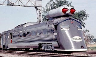 Illustration for article titled New York Central's M-497 Jet Powered Train