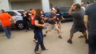 Illustration for article titled Huge Brawl Breaks Out In Tailgating Area Before Texas Tech-UTEP Game