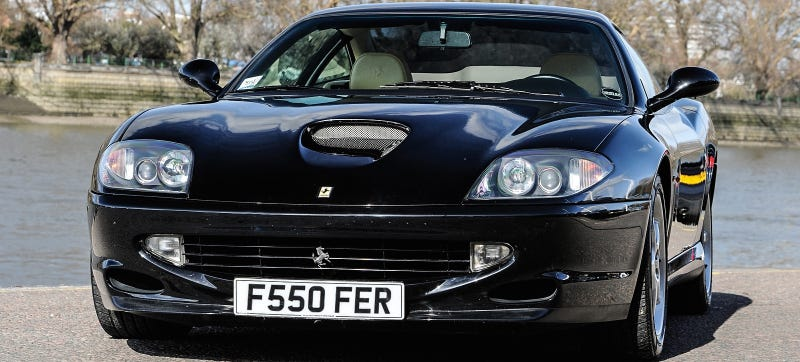 Illustration for article titled Why Buy A Jaguar F-Type When You Can Get This V12 Ferrari 550 For Less?