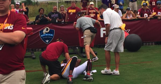 Illustration for article titled DeSean Jackson Stopped By Blocking Sled
