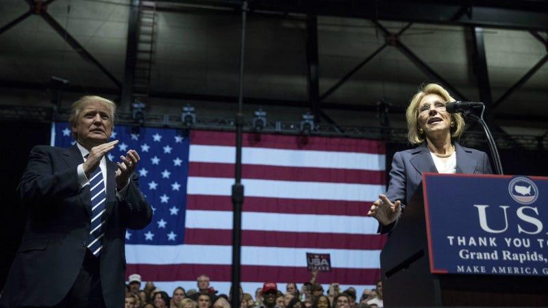 Betsy DeVos. Photo via AP