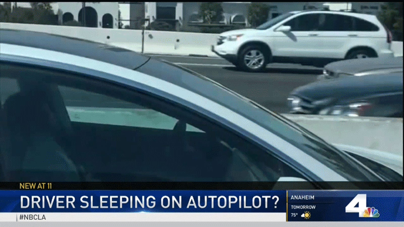 Tesla Driver Imitates Regulators by Appearing to Fall Asleep With