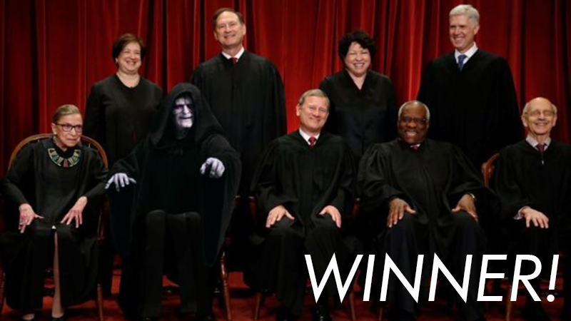 Illustration for article titled 'Shop Contest: Palpatine Deserves To Be Everywhere, Winners!