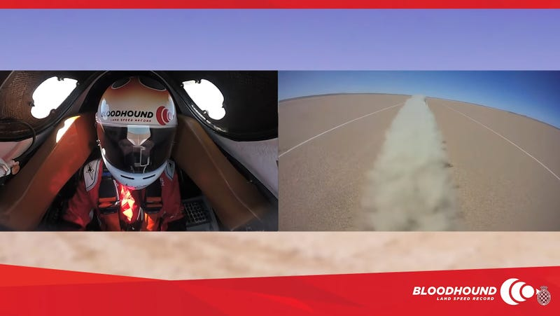 Illustration for article titled Ride Onboard The Bloodhound For A Super Chill 334 MPH Practice Run