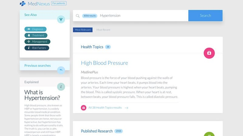 Illustration for article titled MedNexus Is a Medical Search Engine with Actually Useful, Evidence-Based Sources