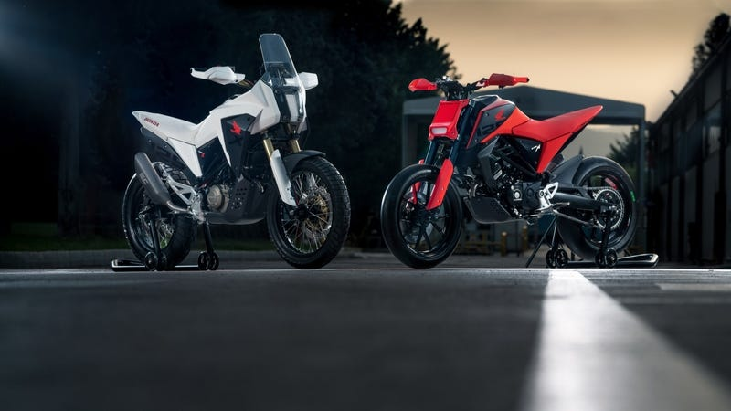 Illustration for article titled Honda's New Retro-Future Small Bore Concept Bikes Are Tons Of Cool In A Tiny Package