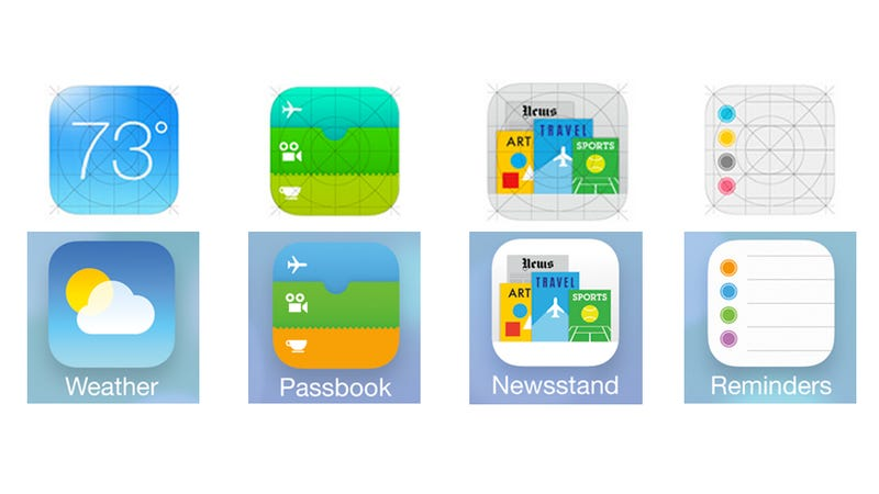 Apple ya está corrigiendo los iconos de iOS 7