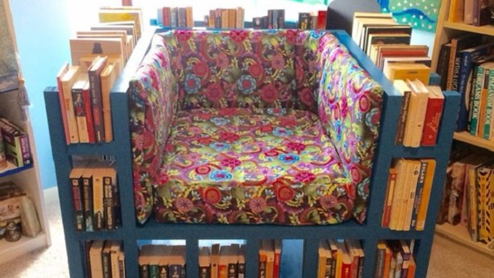 Build The Ultimate Reading Chair With A Built In Bookcase