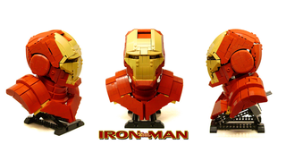 Illustration for article titled This 1:2 Lego Iron Man bust is absolutely gorgeous
