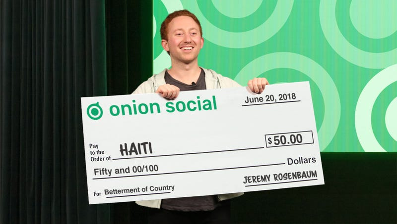 Illustration for article titled Onion Social CEO Responds To Company Chaos By Donating $50 To Haiti