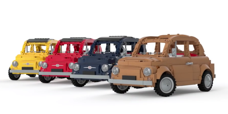 Illustration for article titled The LEGO Fiat 500 Has All Of The Italian Charm Of The Original