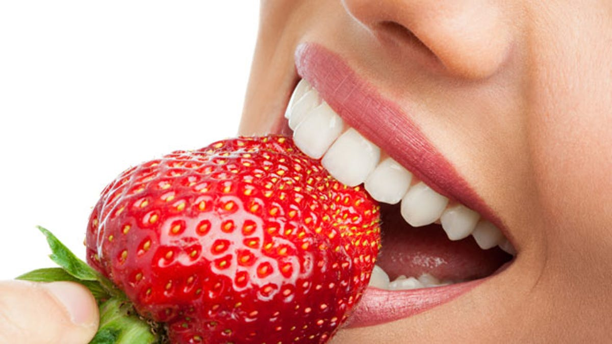 Image result for Strawberry for teeth