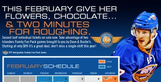 Illustration for article titled Poorly Worded Islanders Ad Seems To Want You To Hit Your Ladyfriend