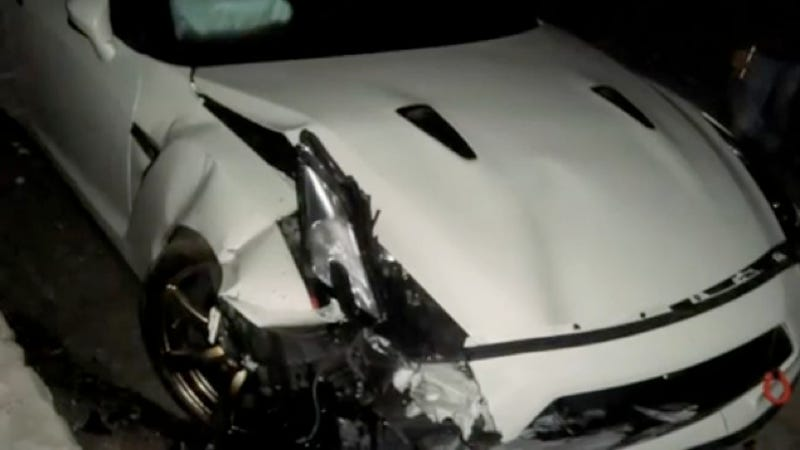 Illustration for article titled Nissan GT-R Owner Charged With Insurance Fraud After Crash Vid Hits YouTube