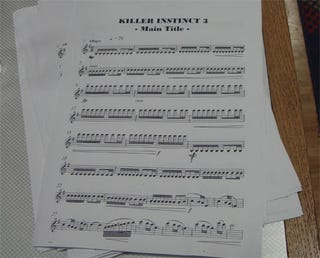 Illustration for article titled Killer Instinct III Unveiled Via...Sheet Music (Huh?)