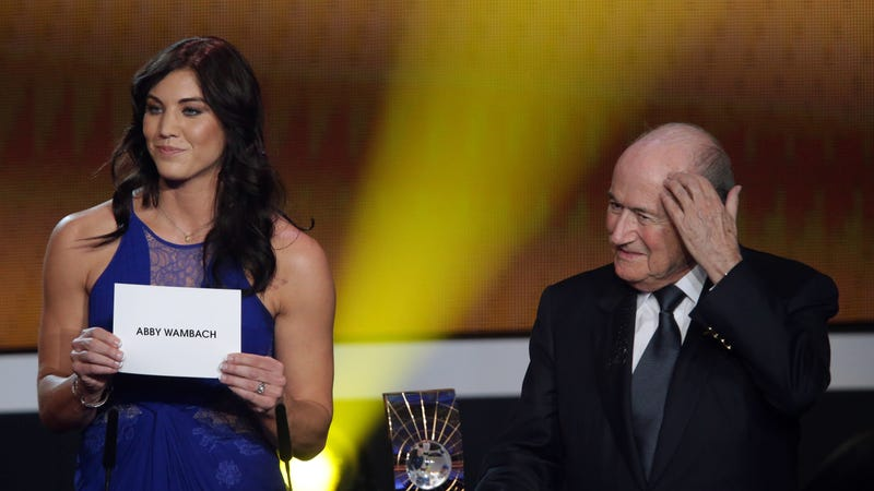 Hope Solo accuses Sepp Blatter of sexual assault at awards ceremony