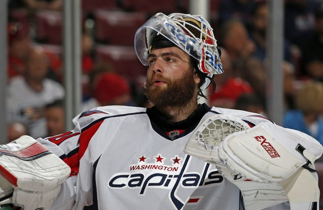 I Have No Idea How Braden Holtby Didn't Allow A Goal Here