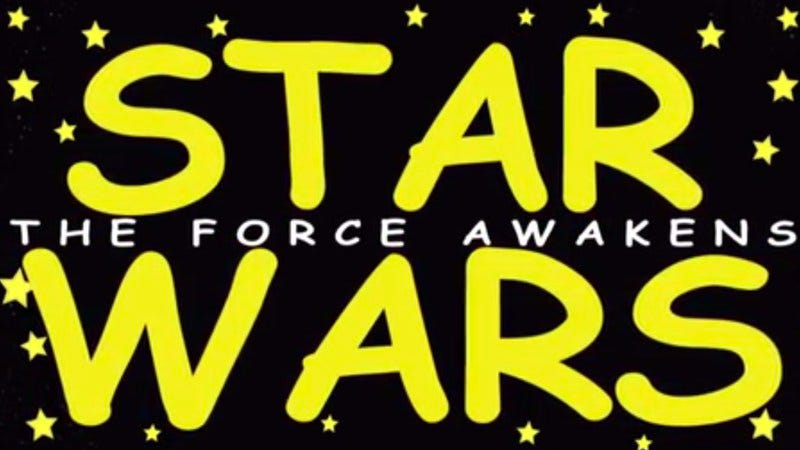 Illustration for article titled Experience the wonder of Star Wars: The Force Awakens' teaser in clipart form
