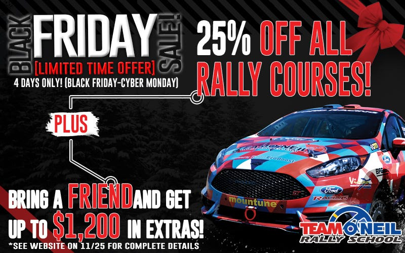 Illustration for article titled Team O'Neil Rally School Is 25% Off!