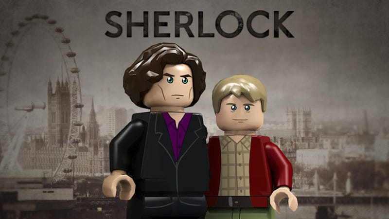 Illustration for article titled Blimey! This Sherlock Lego set may become official!