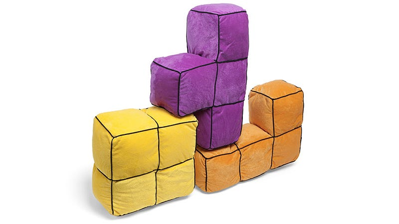 Illustration for article titled Giant 3D Tetris Cushions Are the Perfect Fort-Building Tool