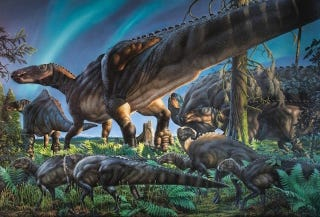 Illustration for article titled We've Discovered a Lost World of Snow Dinosaurs