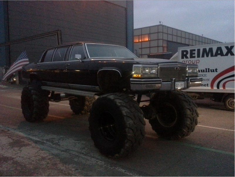 Illustration for article titled There's a Cadillac limousine monster truck in Finland!?