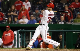 Bryce Harper of the Washington NationalsRob Carr/Getty Images