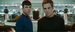 Illustration for article titled Trailer Reveals Who's Hooking Up With Kirk and Why Scotty's All Wet