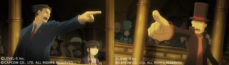 Illustration for article titled Professor Layton And Ace Attorney Co-Starring In Upcoming Title
