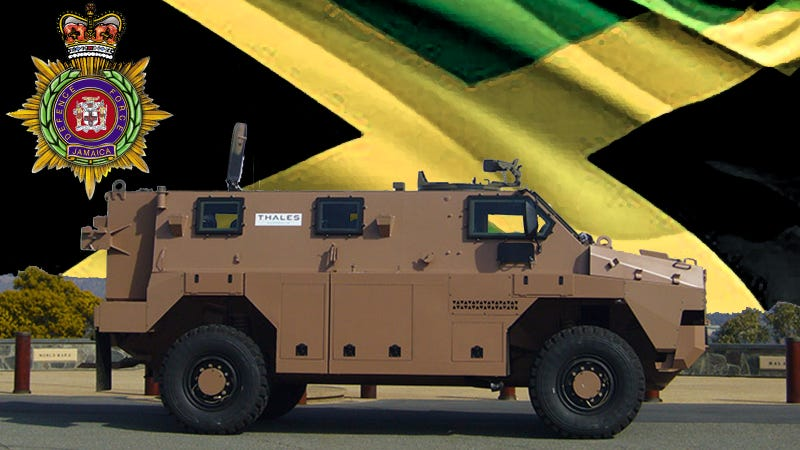 Illustration for article titled Jamaica's Eclectic Military Motorpool Upgraded With Aussie Armor