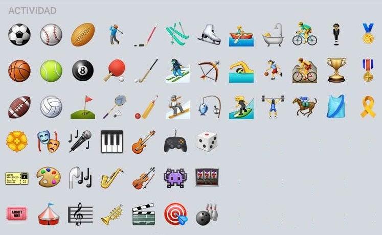 Fondo Con Iconos De Deporte: Estos Son Los Nuevos Emojis Que Llegan Con IOS 9.1