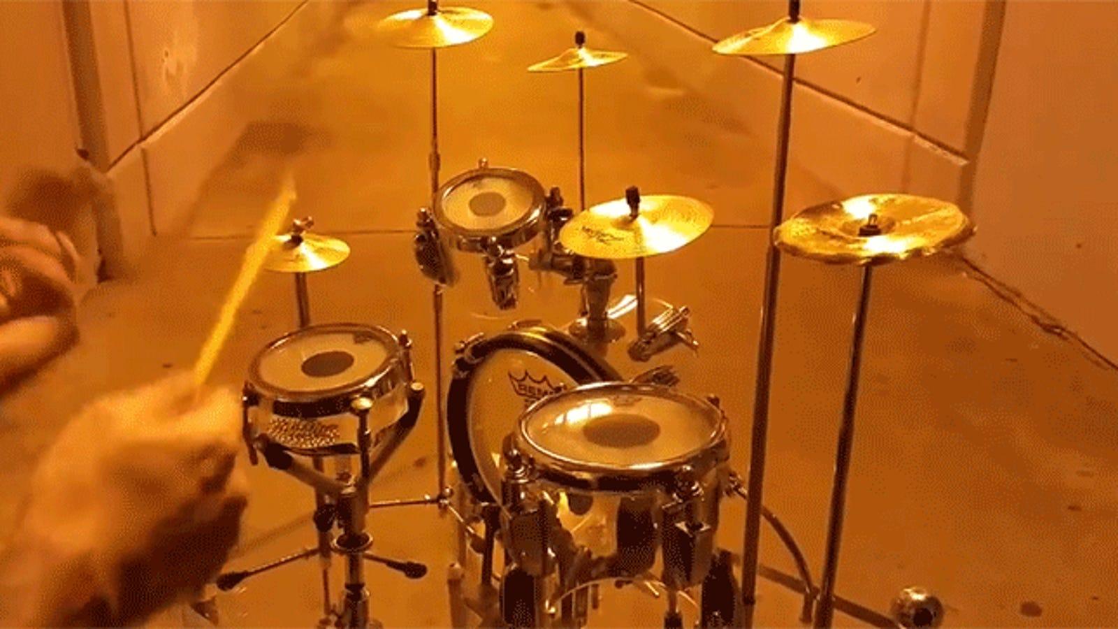 This Tiny Drum Set Sounds Amazingly Good