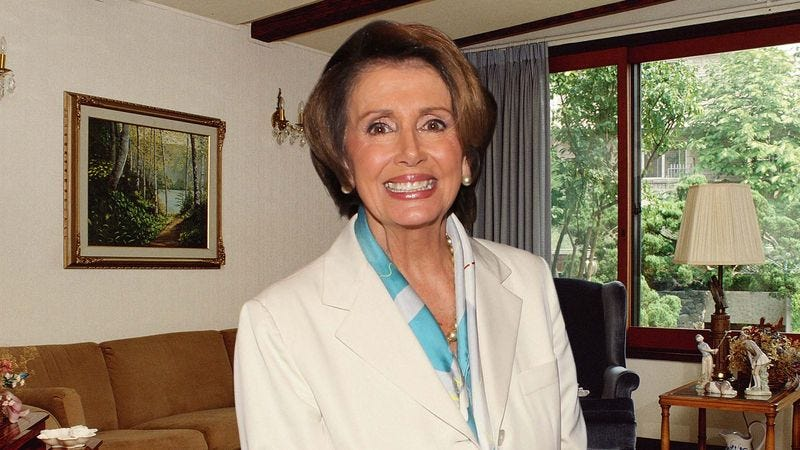 Illustration for article titled Nancy Pelosi Rushes Into Living Room To Hear Grandson's First Talking Point