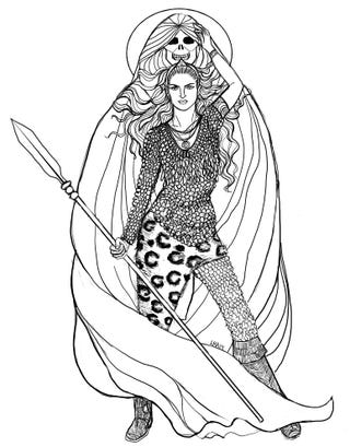 Illustration for article titled Narasen, Leopard Queen of Merh