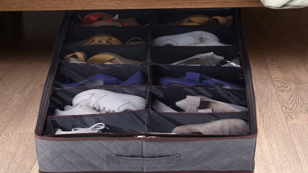 Got Too Many Shoes? Organize The Crap Out of Them With These Underbed Storage Bags