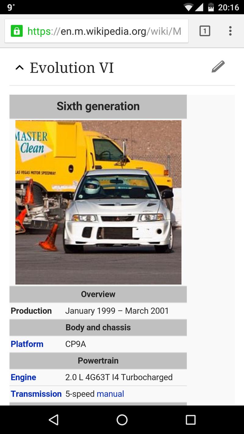 Illustration for article titled Lancer Evo wiki pictures