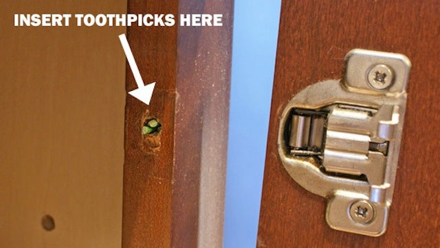 Fix A Stripped Screw Hole With Toothpicks
