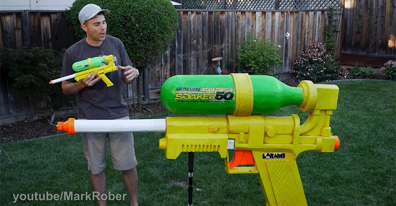 The Worlds Biggest Super Soaker Is Powerful Enough To Shatter Windows - This is the worlds biggest super soaker and it shatters windows