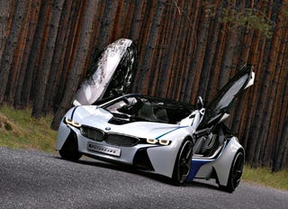 Illustration for article titled BMW's New Tron-Like Turbodiesel Hybrid Concept