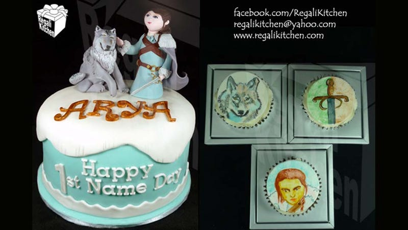Illustration for article titled Celebrate Your Name Day with an Arya Stark Birthday Cake