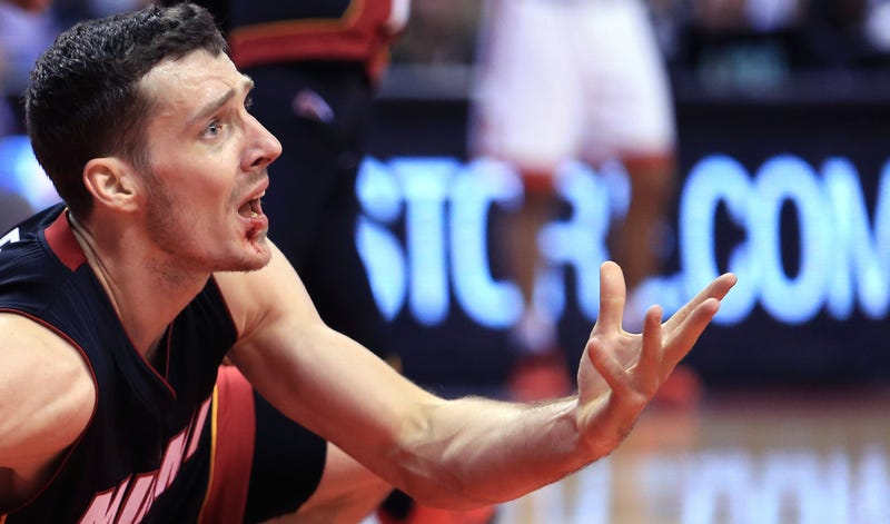 Illustration for article titled Goran Dragic Just Can't Stop Getting His Face Busted