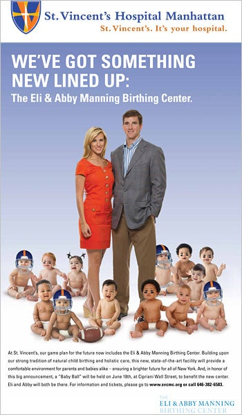 Illustration for article titled Eli Manning's Wife Will Soon Have Two Children To Care For